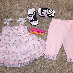 New Kate Mack Bow Peep Outfit with w/ Sandals Cute